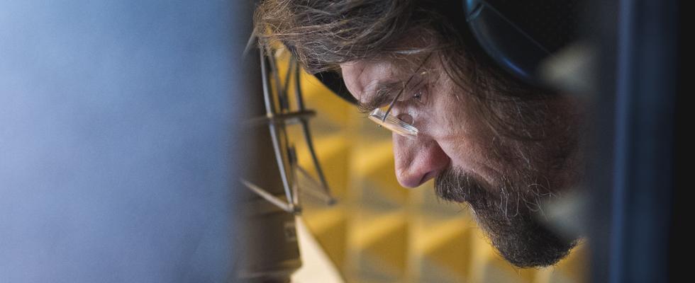 Dan Bárta při natáčení alba Vánoce dospělých (2018) / Foto Jan Mazura