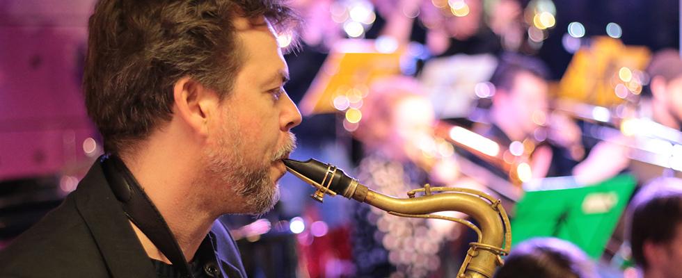 Marcel Bárta na vánočním koncertě Concept Art Orchestra (2017) / Foto Jan Mazura