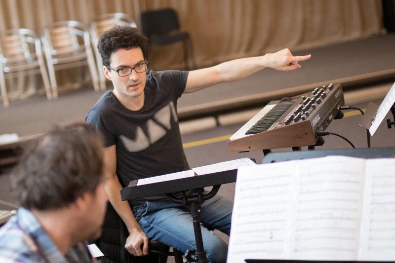 Martin Brunner na zkoušce Concept Art Orchestra (2019) / Foto Jan Mazura