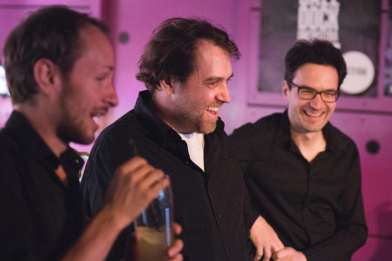 Martin Novák, Tomáš Sýkora a Martin Brunner na koncertě Concept Art Orchestra (2019) / Foto Jan Mazura